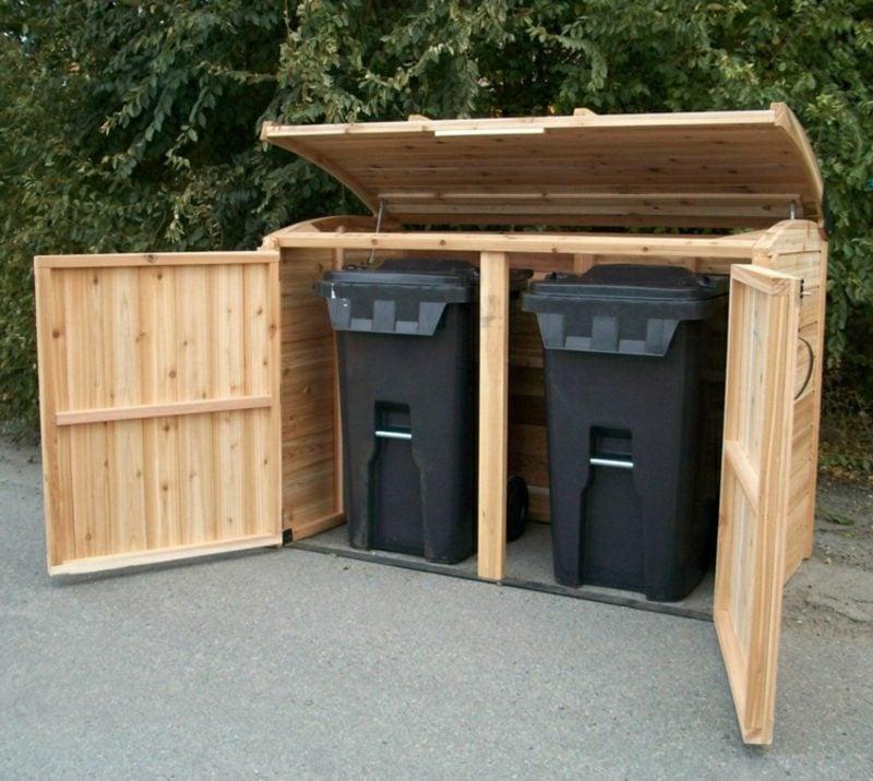 Tür bauen Mülltonnenbox