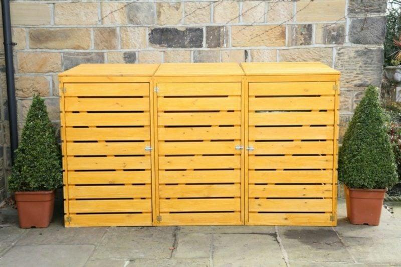 Mülltonnenbox für 3 Tonnen bauen Anleitung