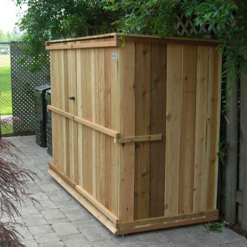Müllhäuschen bauen Holzbretter