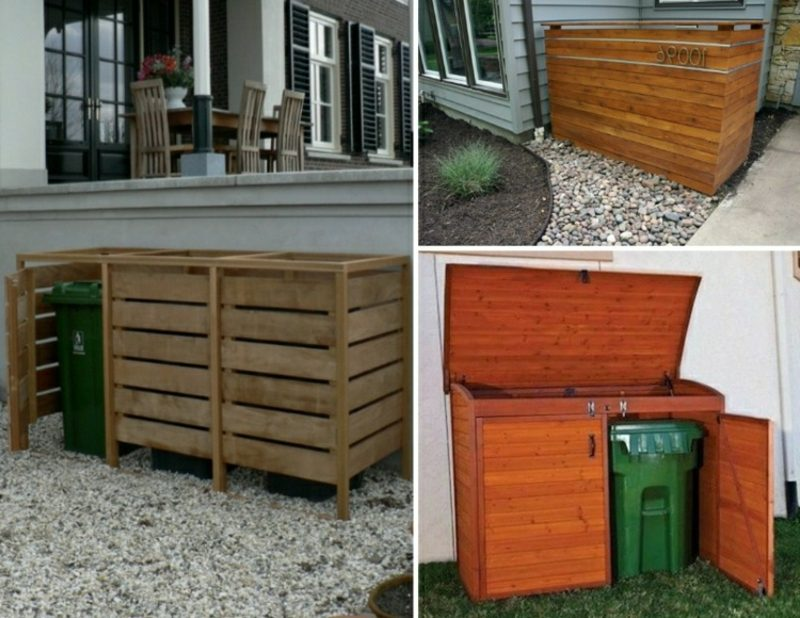 Mülltonnen Unterstand Holz