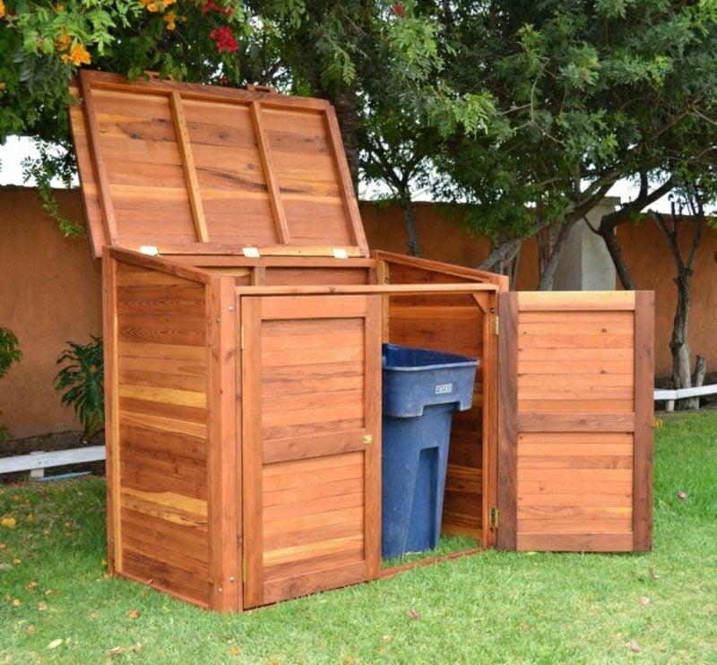 Müllhäuschen bauen Holz