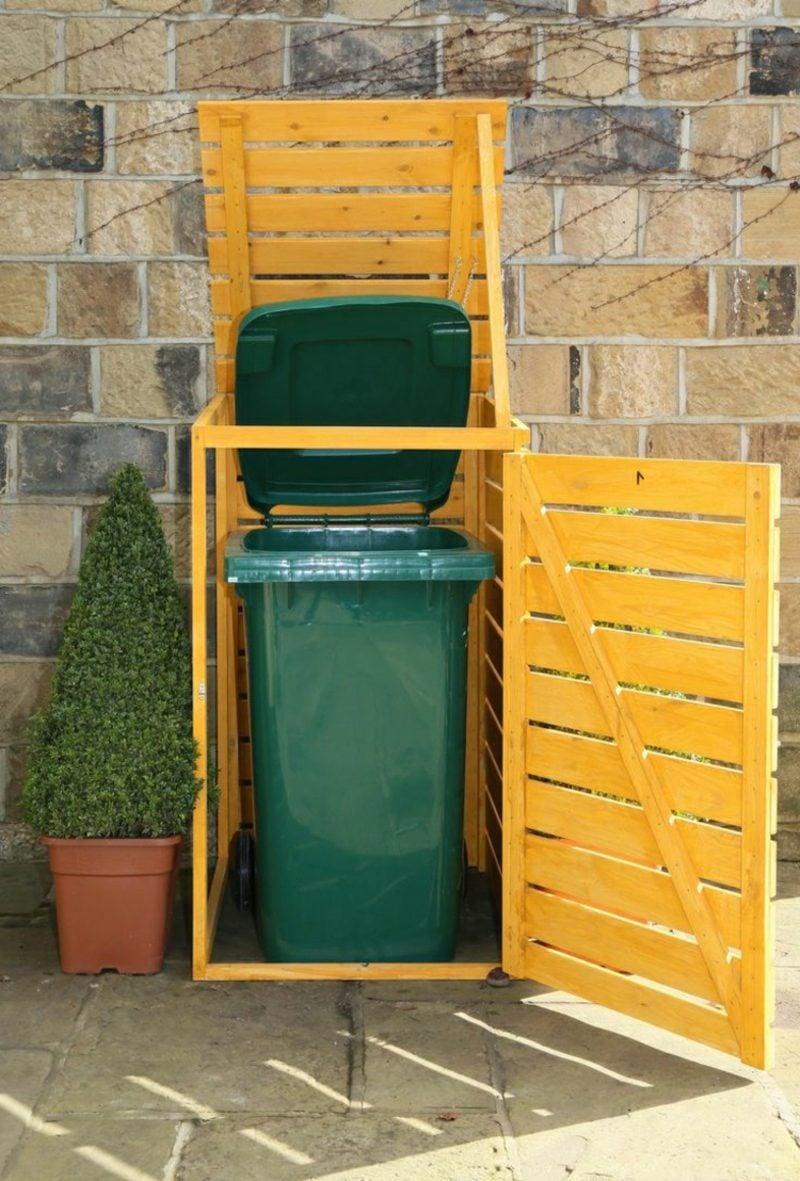 Tür bauen Mülleimerbox