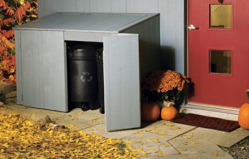 Mülltonnenbox Kunststoff Falttüren
