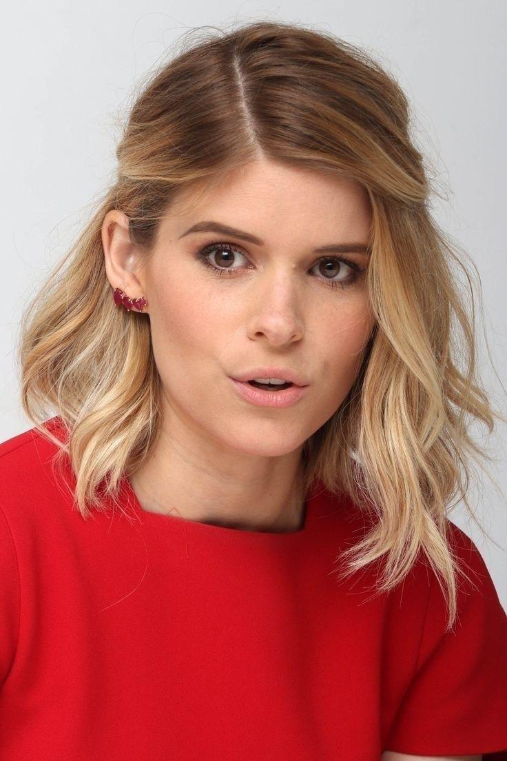 Stylische Frisur für mittellanges Haar
