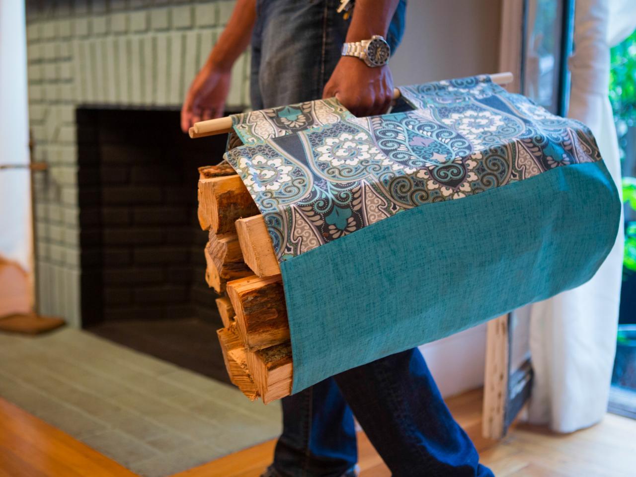 Holz tragen für Kamin kann auch einfacher sein