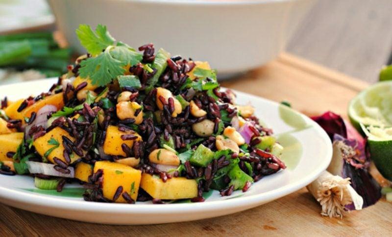 Inhaltsstoffe Reis schwarz Salat mit Mango
