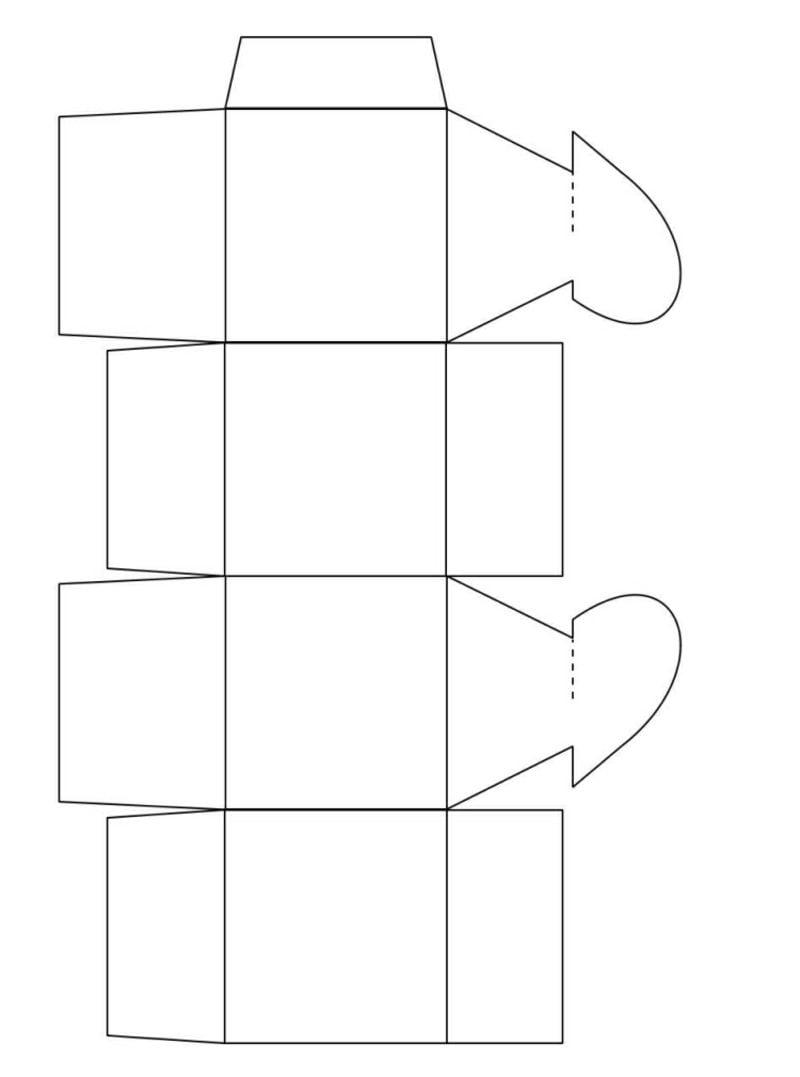 Bastelvorlagen Papierschachtel falten Herz