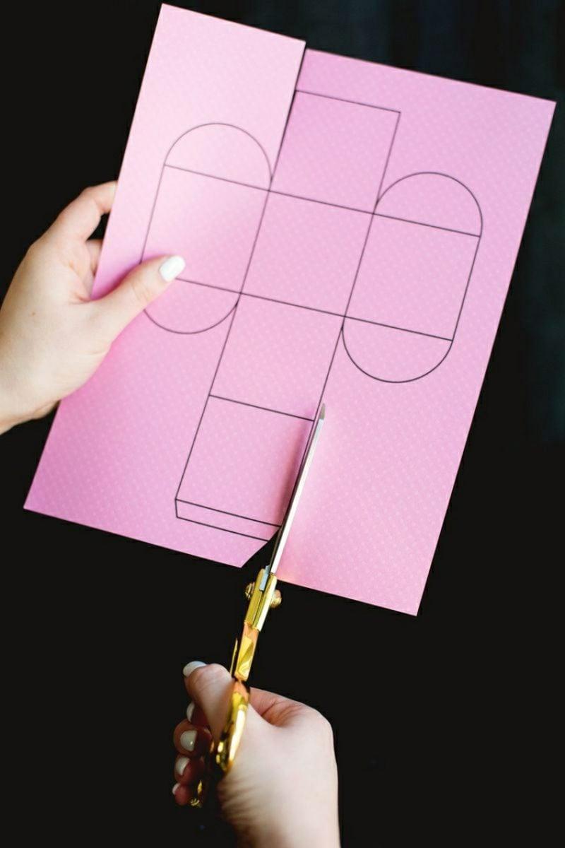 Bastelvorlagen Papierschachtel falten hilfreiche Tipps