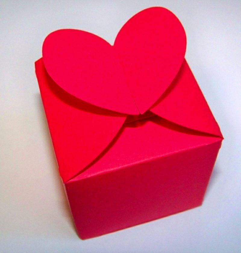 Papierschachtel falten Herz herrlicher Look