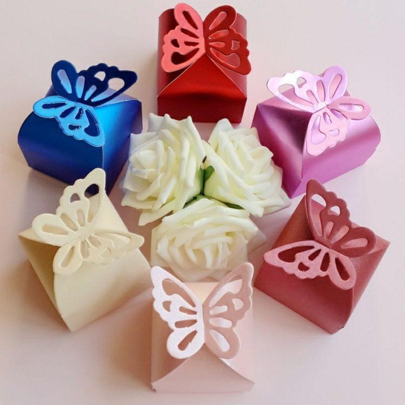 einfache Bastelideen Papierschachtel falten Schmetterling