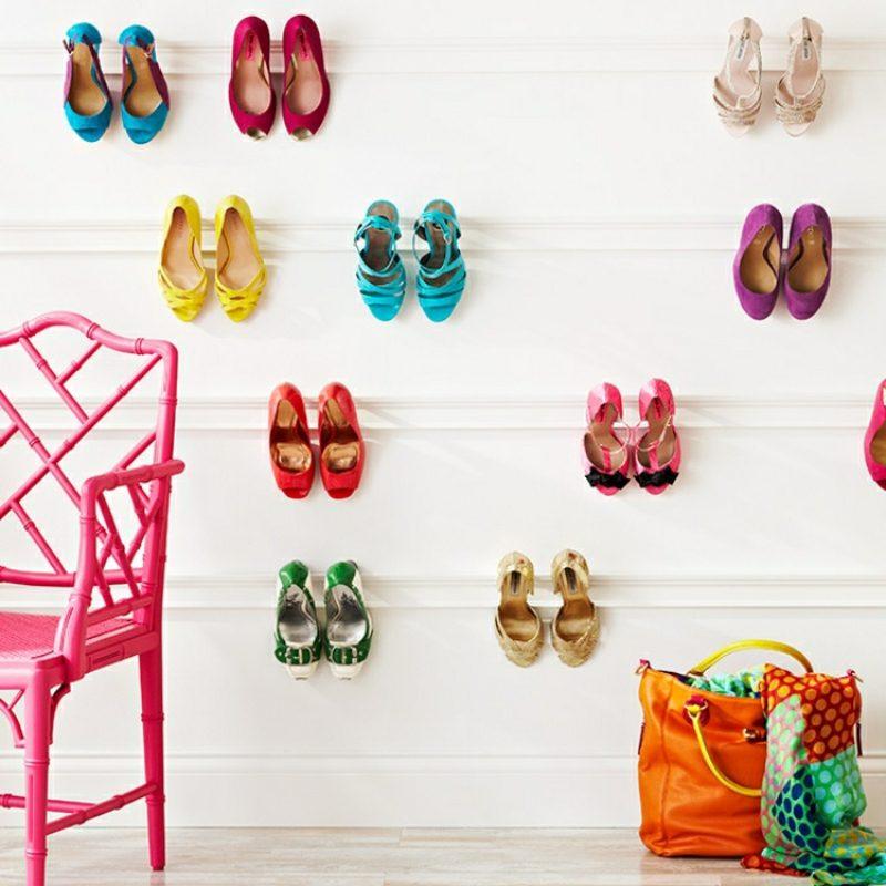 Regale selber bauen für Schuhe