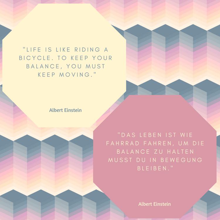 positive Sprüche Lebensmotto Einstein