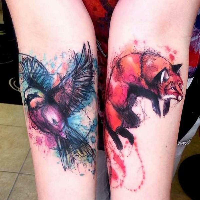 Wasserfarben Tattoo 2 Designideen