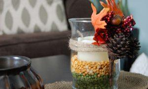herbstliche Tischdeko DIY Ideen Kerzenhalter