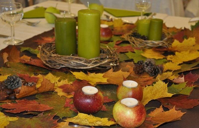 Herbst Tischdeko inspirierende Ideen