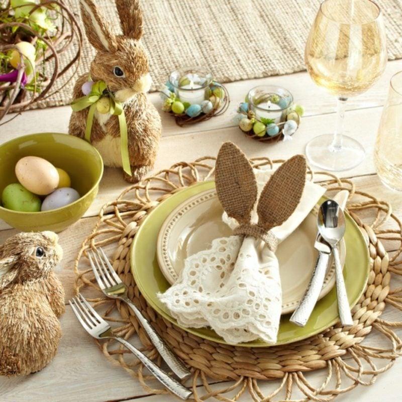 Basteltipps Tischdeko Ostern
