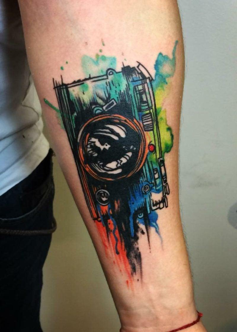Tattoo Aquarell Fotoapparat
