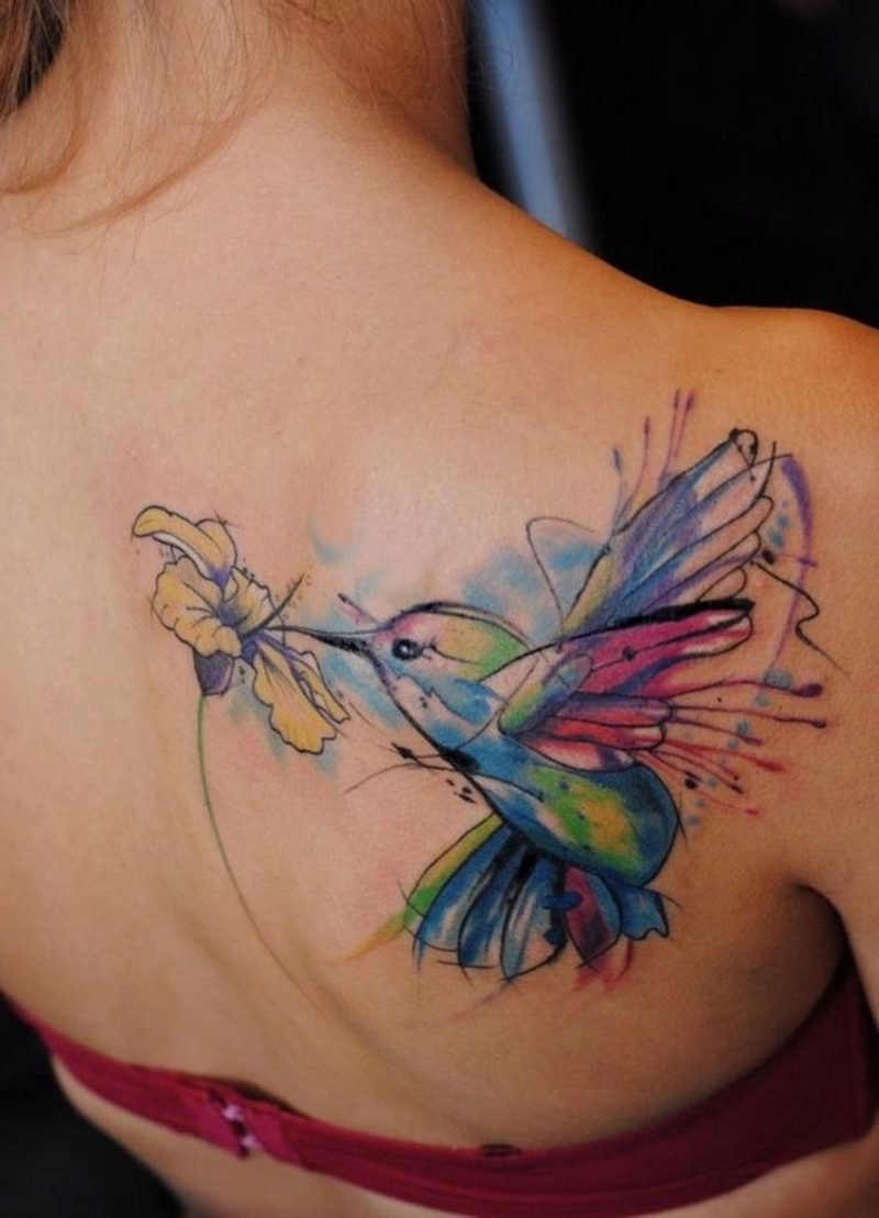 Tattoo Oldenburg Kolibri Wasserfarben
