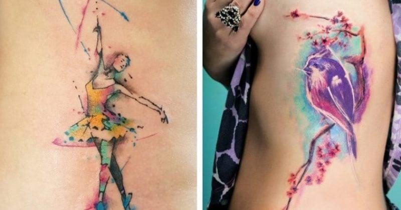 Aquarell Tattoo 2 tolle Designideen