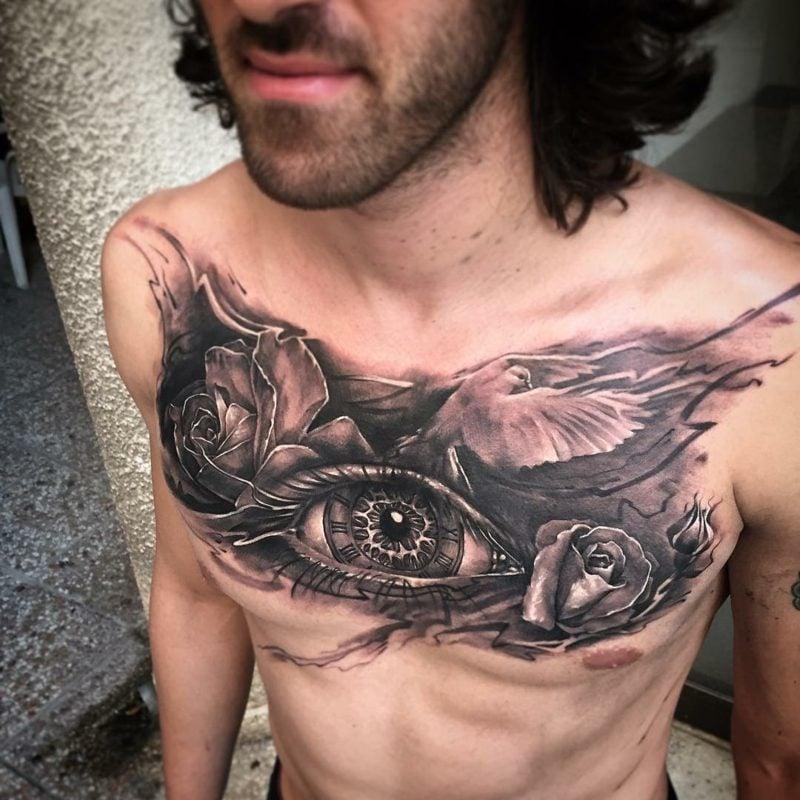brust tattoo augen symbol