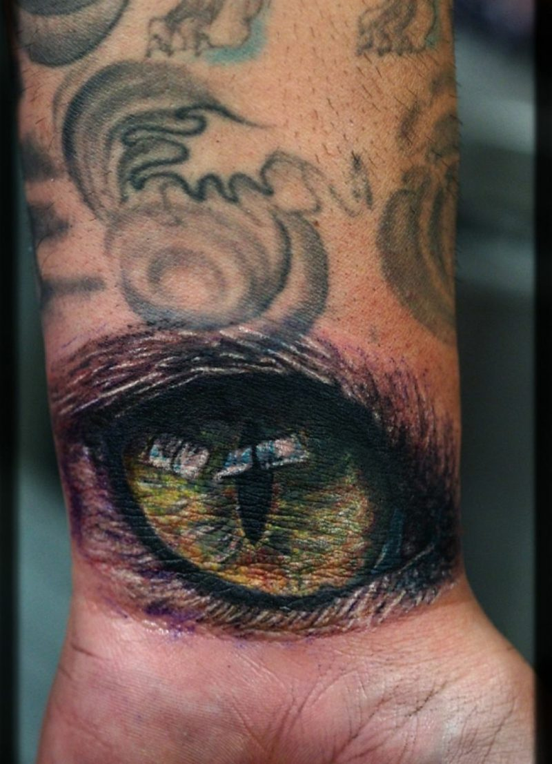katzenauge tattoo design