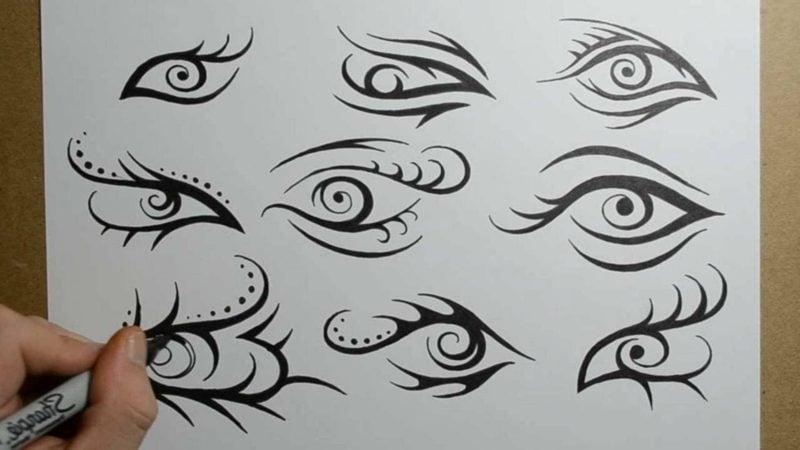 augen tattoo design