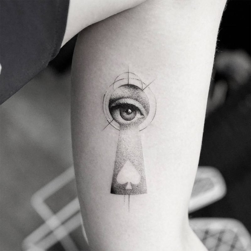 attraktives augen tattoo design
