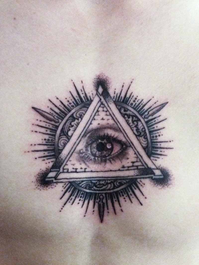 illuminati symbol augen tattoo