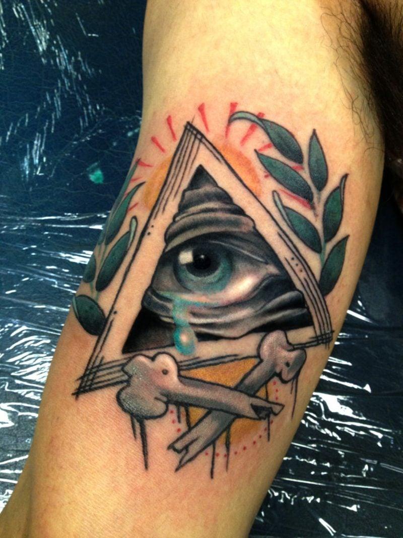 schutz auge tattoo design
