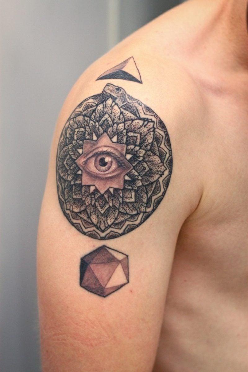 augen tattoo abstract design