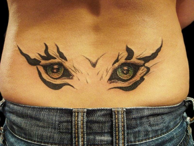 tier augen tattoo