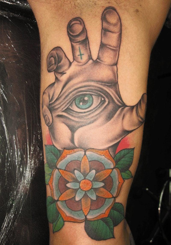 symbolisches augen tattoo