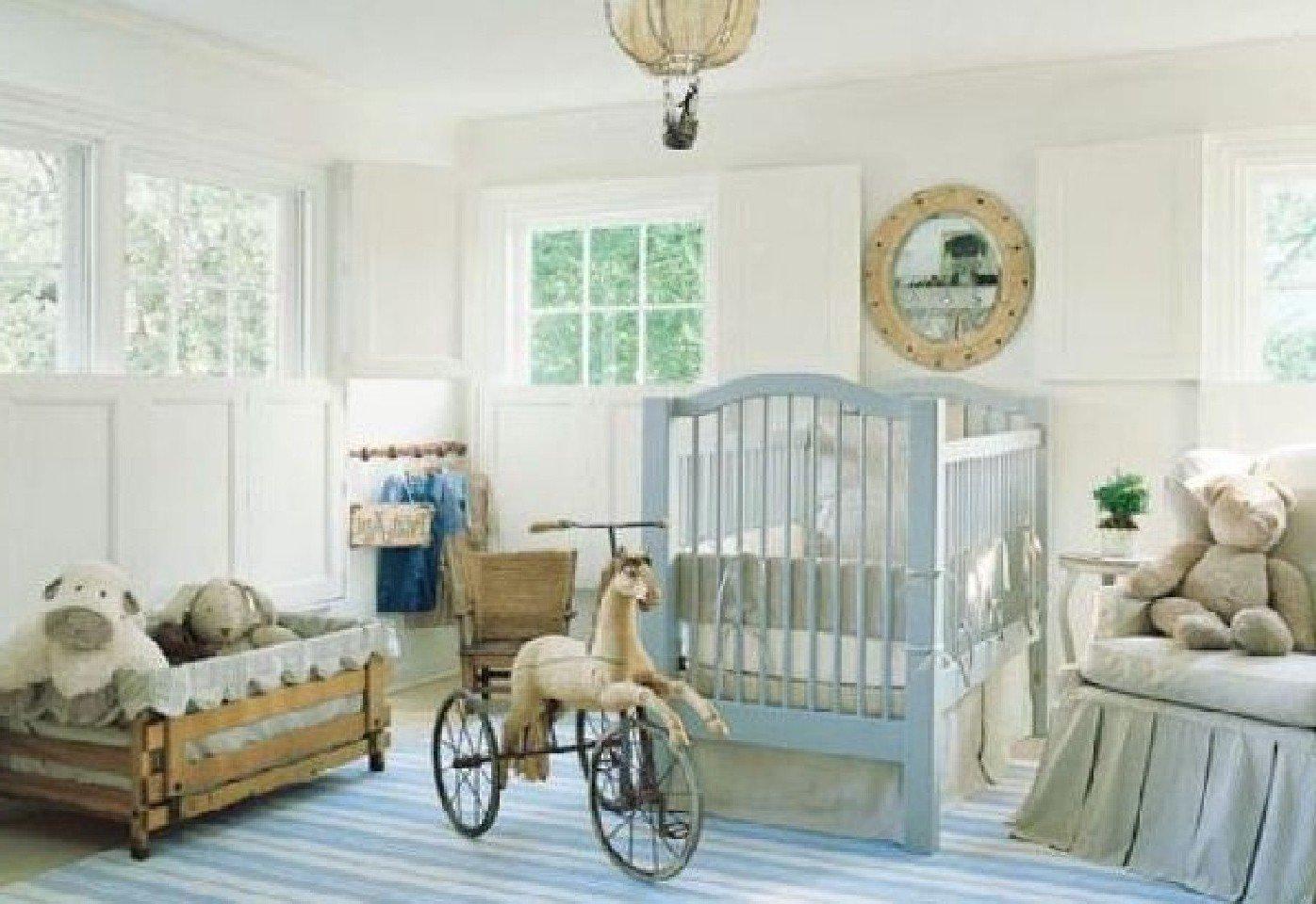 Baby- Zimmer in rustikalem Still