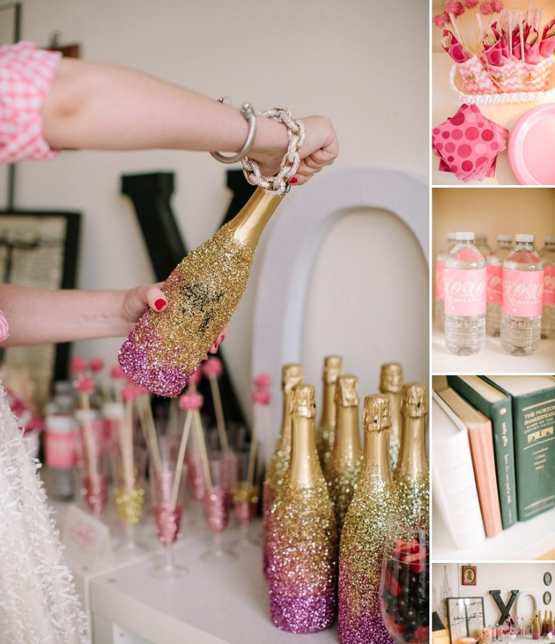 Bachelorette Party Glitter Deko