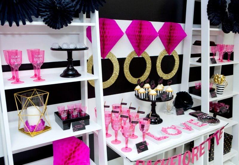 Bachelorette Party Dekoration Trend - Pink und Gold