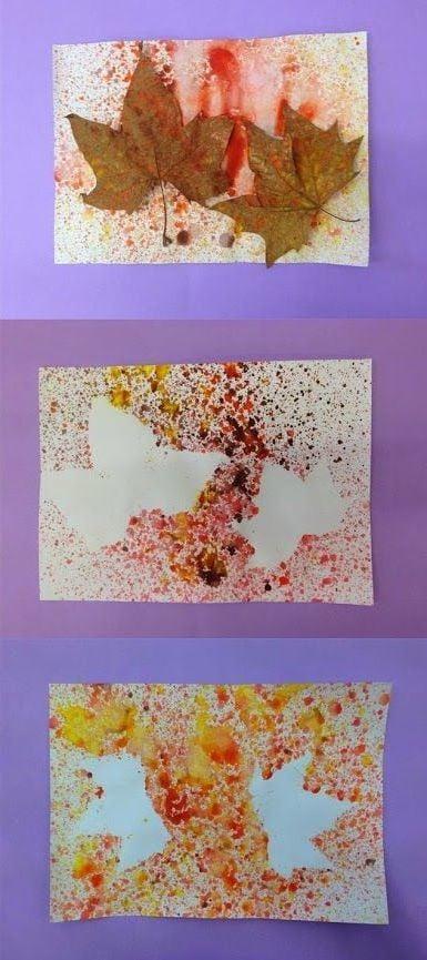 Malideen mit Herbstblättern