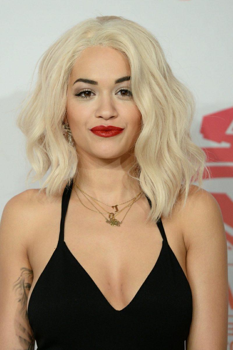 hellblonde Haare Eisblond Rita Ora