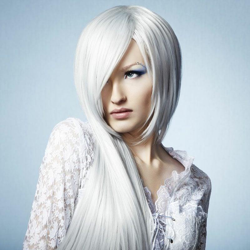 kühle Haarfarben Eisblond
