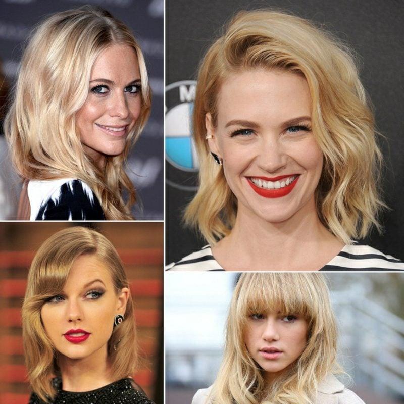 blonde Haare verschiedene Nuancen
