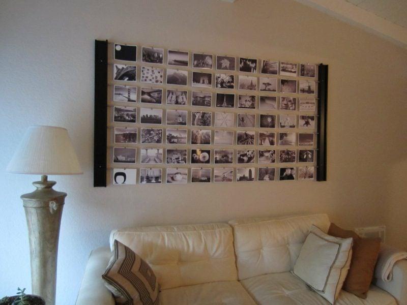 fotowand zu hause gestalten tipps und 25 kreative ideen innendesign wandverkleidung zenideen. Black Bedroom Furniture Sets. Home Design Ideas