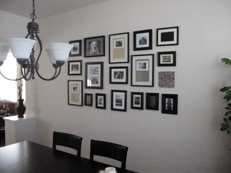 fotowand im esszimmer gestalten