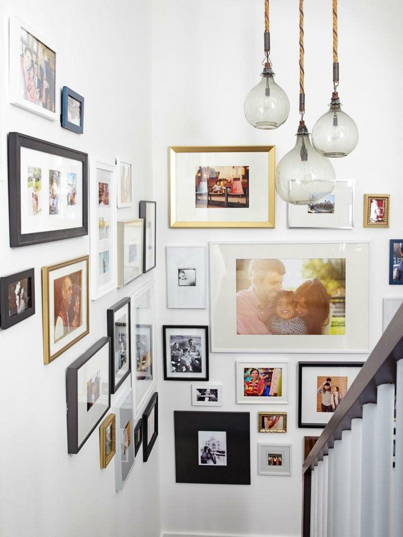 fotowand gestalten treppenhaus