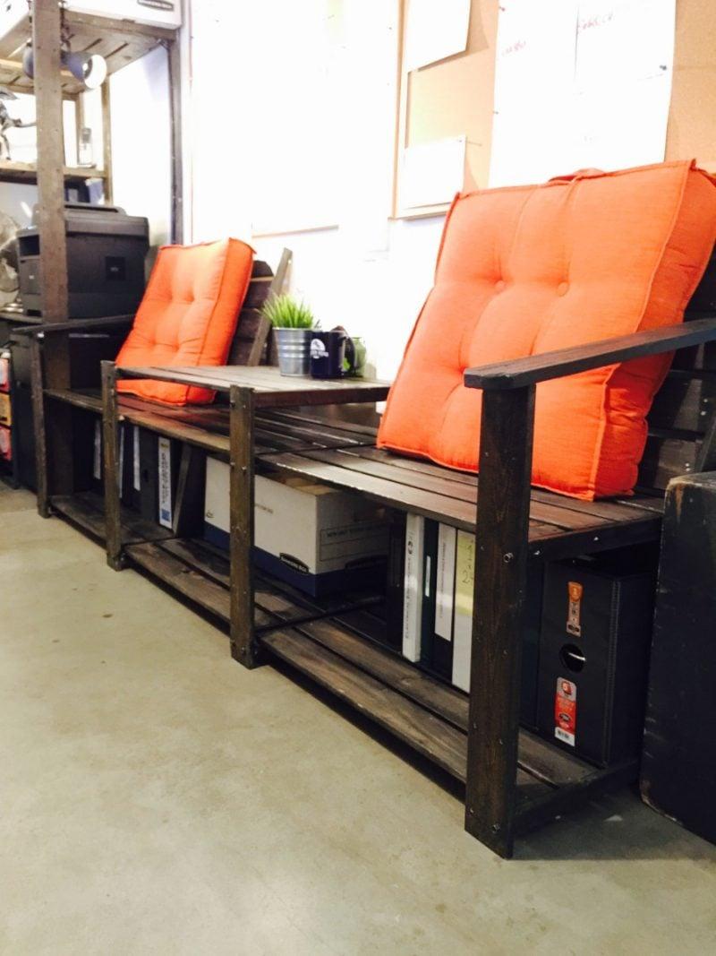 Gartenideen - Gartenbank selber bauen aus Ikea Materialien