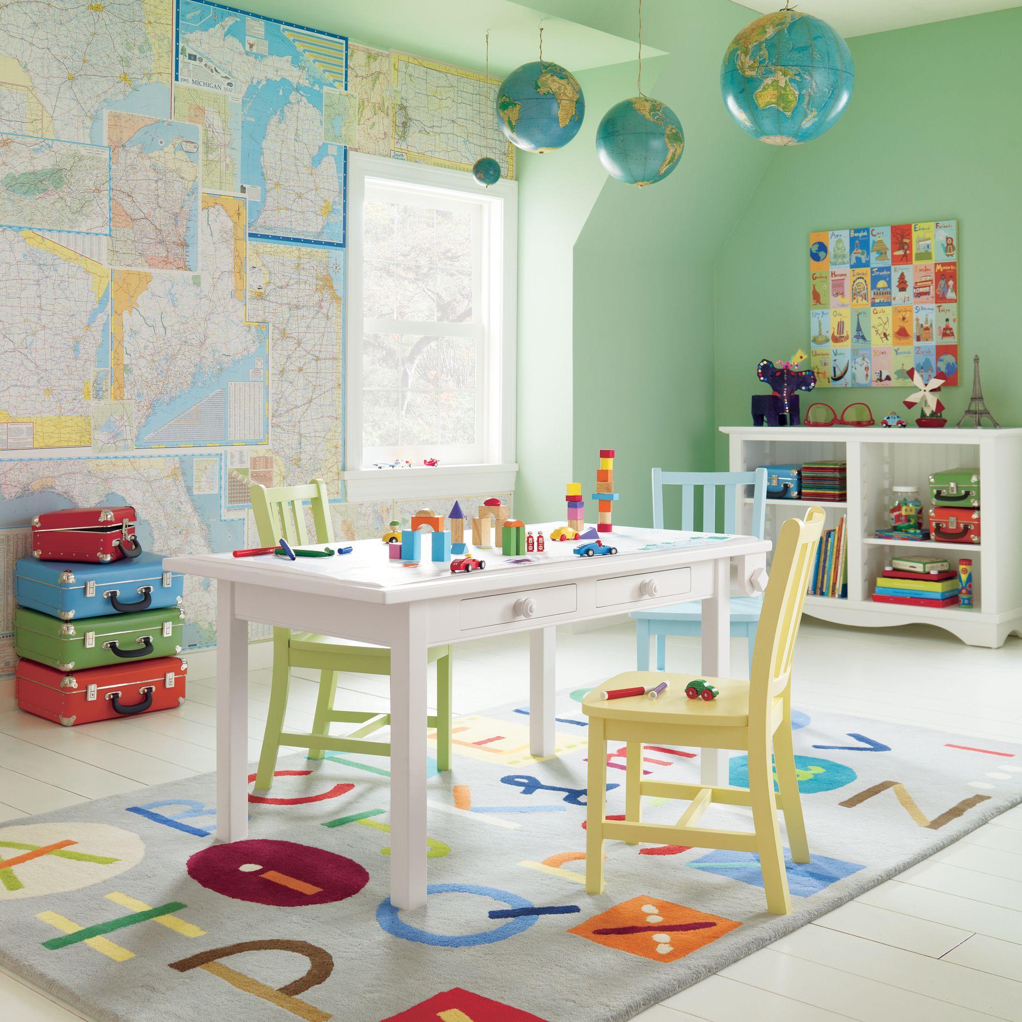 Jugend- und Kinderzimmer für Weltreise-Liebhaber