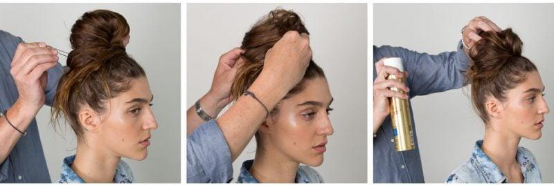 Frisuren für lange Haare - einfache Hochsteckfrisuren