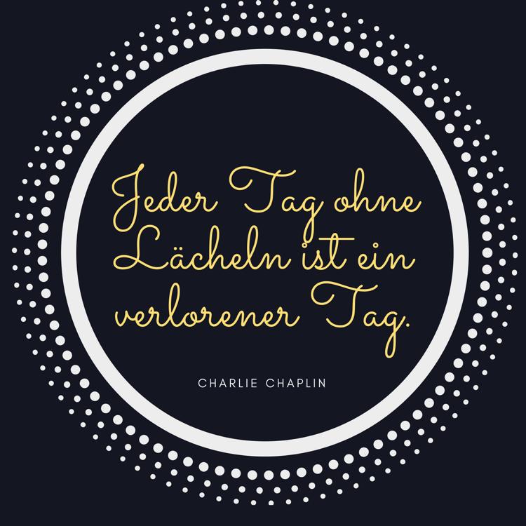 Lebensmotto Sprüche Zitat von Charlie Chaplin