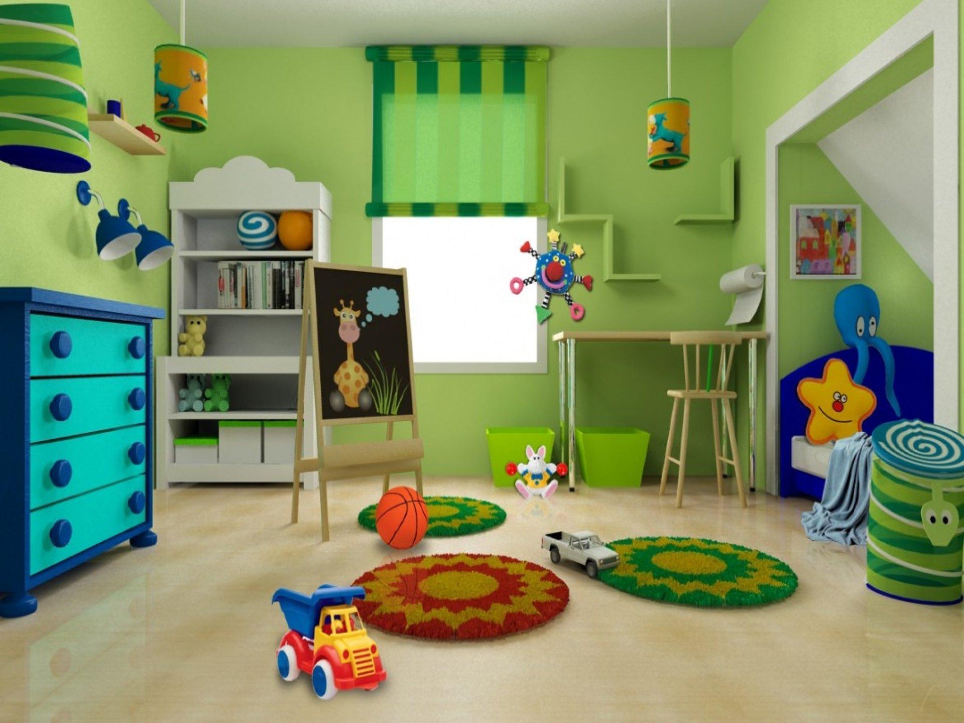 Kinderzimmer Gestaltung- Der grüne Kinderreich