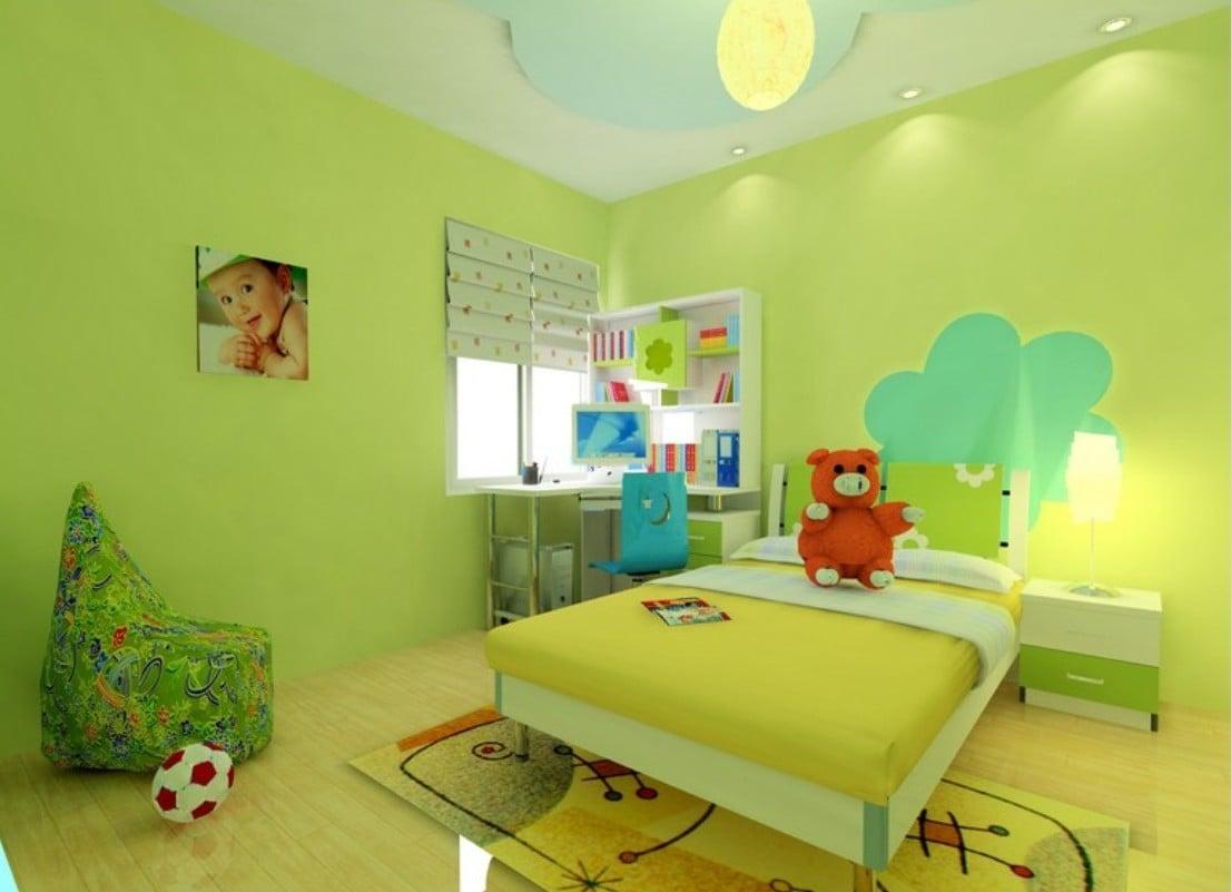 lustiges Kinderzimmer im Grün