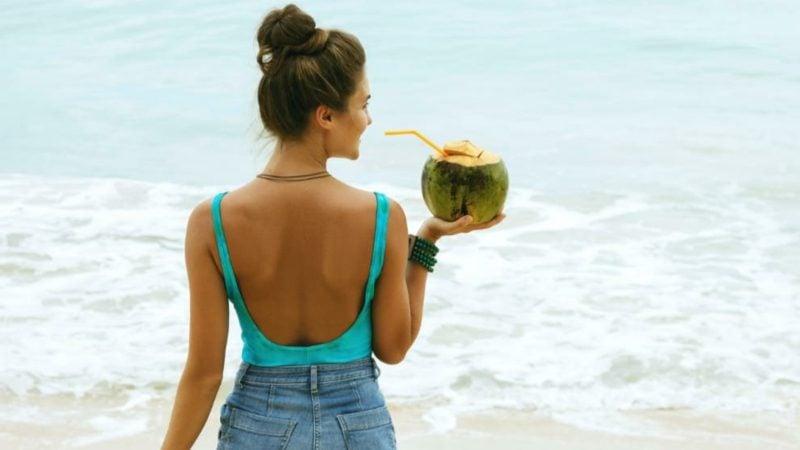 Cocosnuss Getränk Kokoswasser