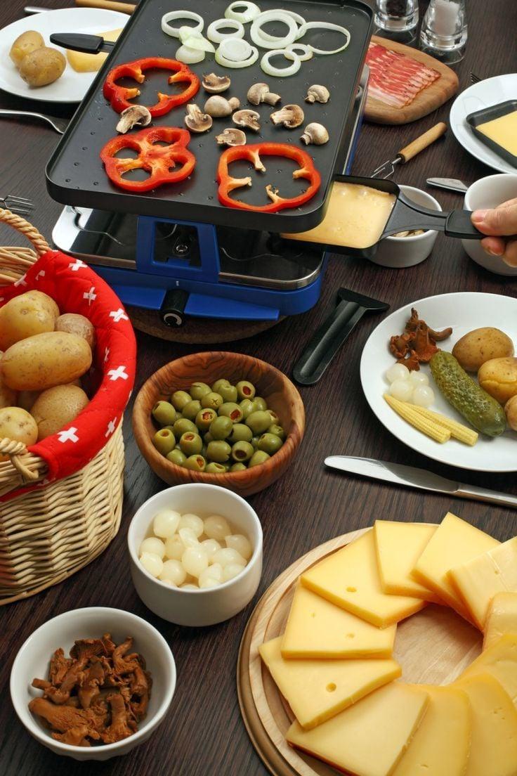 Bereiten Sie gut die Zutaten für ihr Raclette